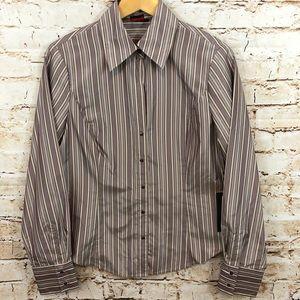 Adrienne vittadini blouse shirt 10 silk new top
